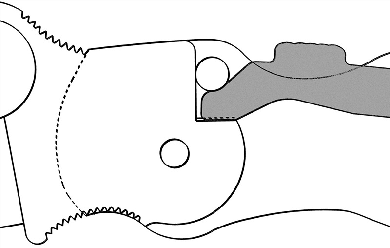 Spyderco Compression Lock. Drawing courtesy Spyderco.