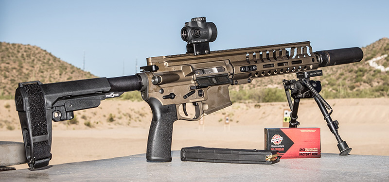 POF-USA P415 Edge Pistol takes virtually unstoppable P415 to a new level. Thanks to five-position SB Tactical SBA3 arm brace, P415 can be had in a short-barrel configuration with ease.