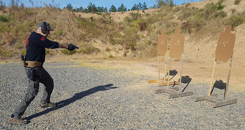 Whether it's one or a dozen threats, practice re-indexing all threats with the muzzle.