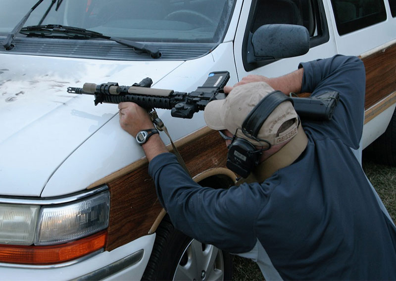 "Firing around actual vehicles is the ""A+"" answer, but isn't practical for many shooters."