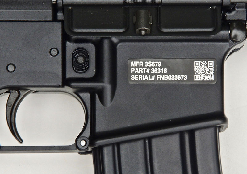 UID markings on FN 15 Military Collector M4.
