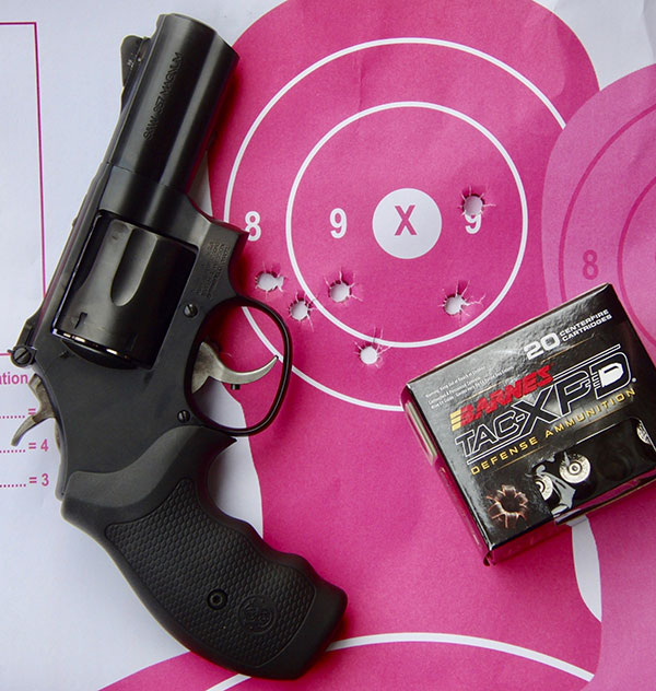 Combination of Model 19 CC's weight and the port allowed quick and accurate double taps at ten yards.