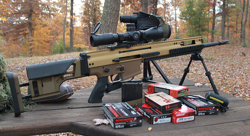 7.62x51mm chambered FN SCAR 20S has power to spare, and its 20-inch barrel is not the hindrance one may imagine, due to how the rifle is balanced and handles.
