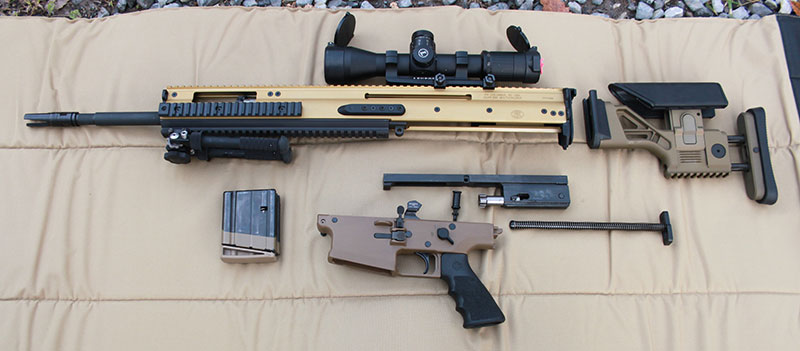 SCAR 20S breaks down into five major components.