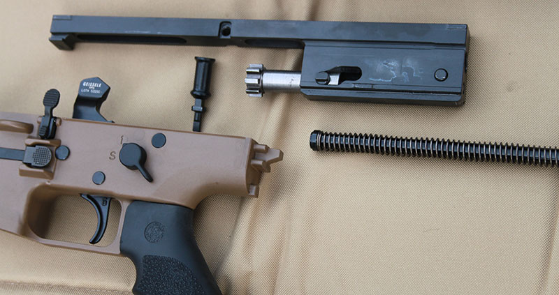 "Geissele ""Super SCAR"" trigger is used with SCAR 20S. Trigger quality is crucial for a precision rifle."