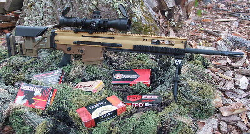 Various ammunition brands were utilized with FN SCAR 20S, with a focus on Match loads.