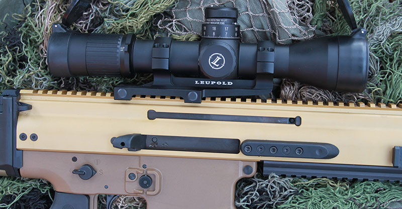 Leupold Mark 6 3-18X scope was mounted on FN SCAR 20S.
