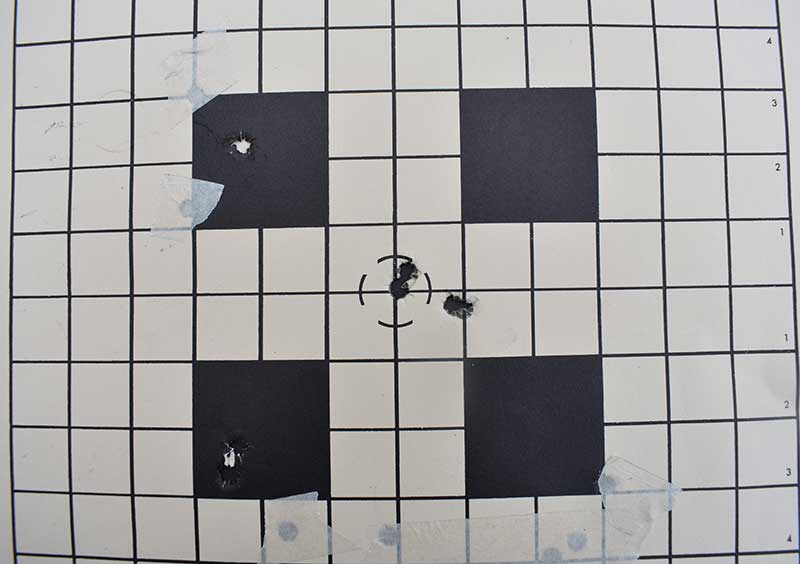 First .300 Win Mag cold-bore shot was low and right, two dead center, fourth round minute-of-Jeff, on top of the first.