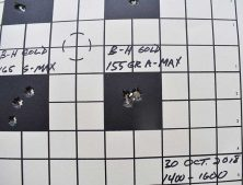 Author's rifle loved 155-grain A-Max.