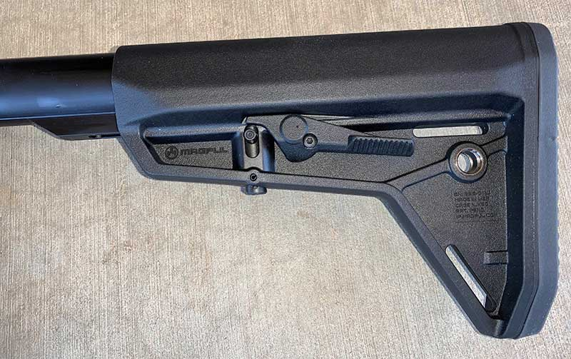 Stock is six-position Magpul MOE.