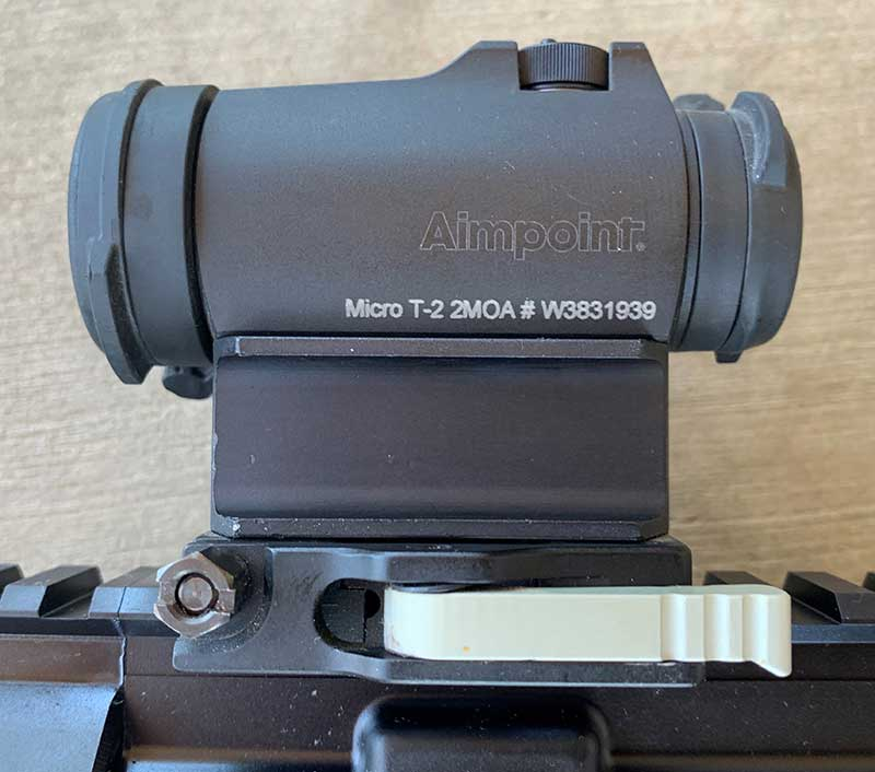 Aimpoint Micro T-2 with 2 MOA dot was utilized to evaluate the rifle.
