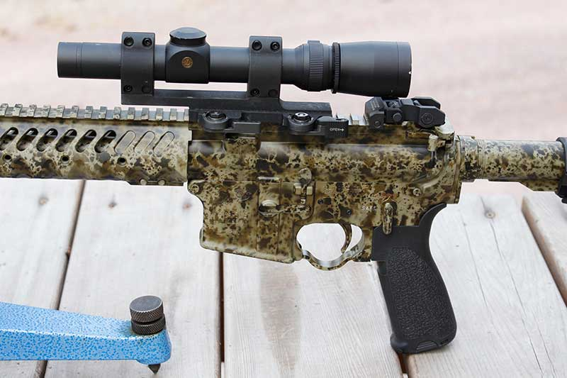 Birdsong camo finish is aesthetically pleasing and durable.