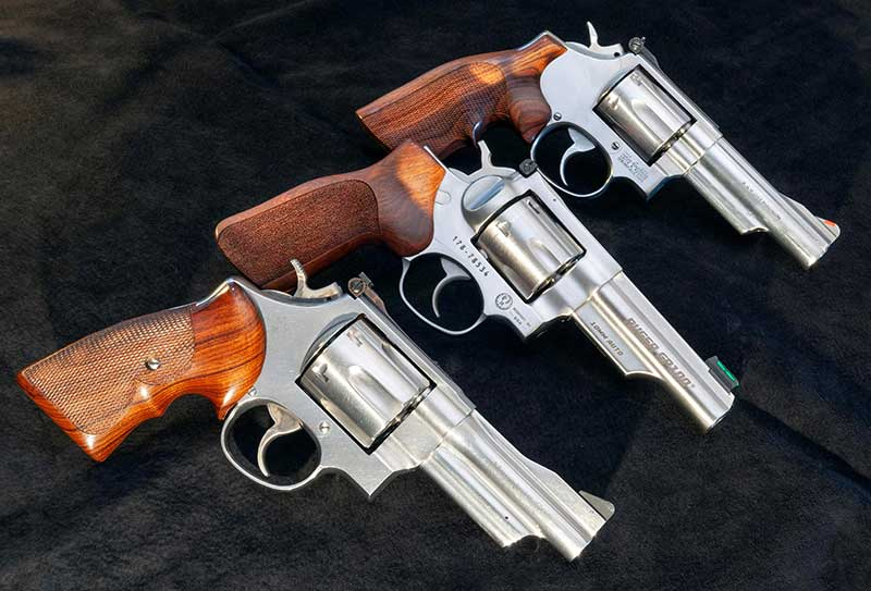 K-Frame Model 66 (top) is perfect choice for a portable .357 Magnum like N-Frame Model 629 (bottom) is for the .44 Magnum. GP100 Match Champion 10mm splits the difference perfectly.