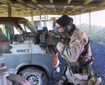 Double mag clamp-equipped M4A1 being utilized at Mid-South Institute of Self Defense circa 2005, during pre-deployment training in preparation for author's third Iraq tour.