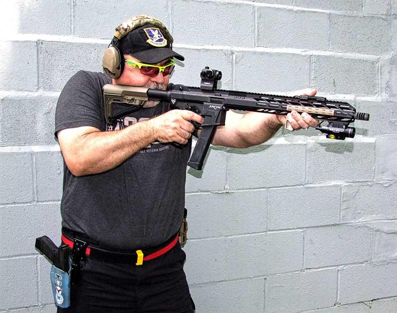 Author shoots Lone Wolf Distributors Alphawolf .45 PCC.