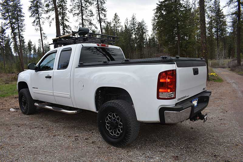 DiamondBack bed cover keeps stored gear safe and provides extra room for more.