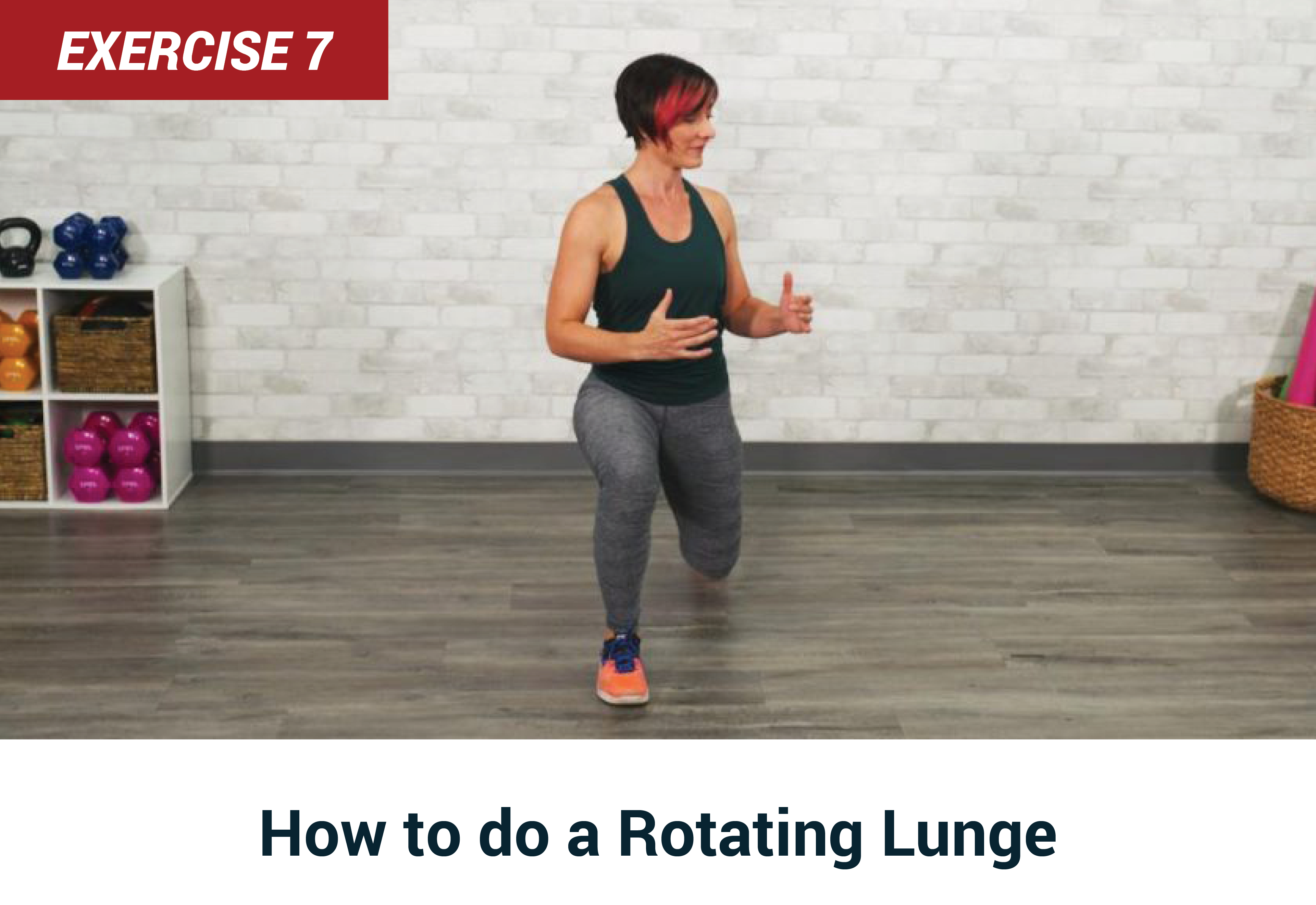 How to do a rotating lunge
