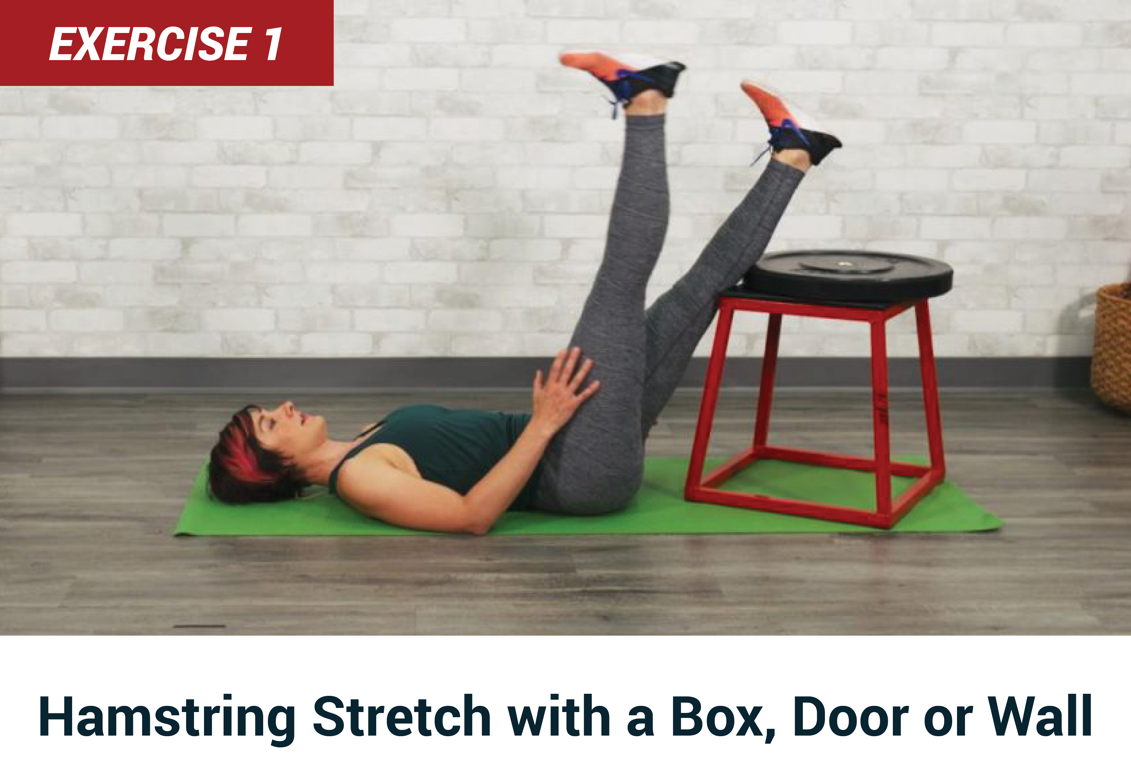 Hamstring stretch with a box