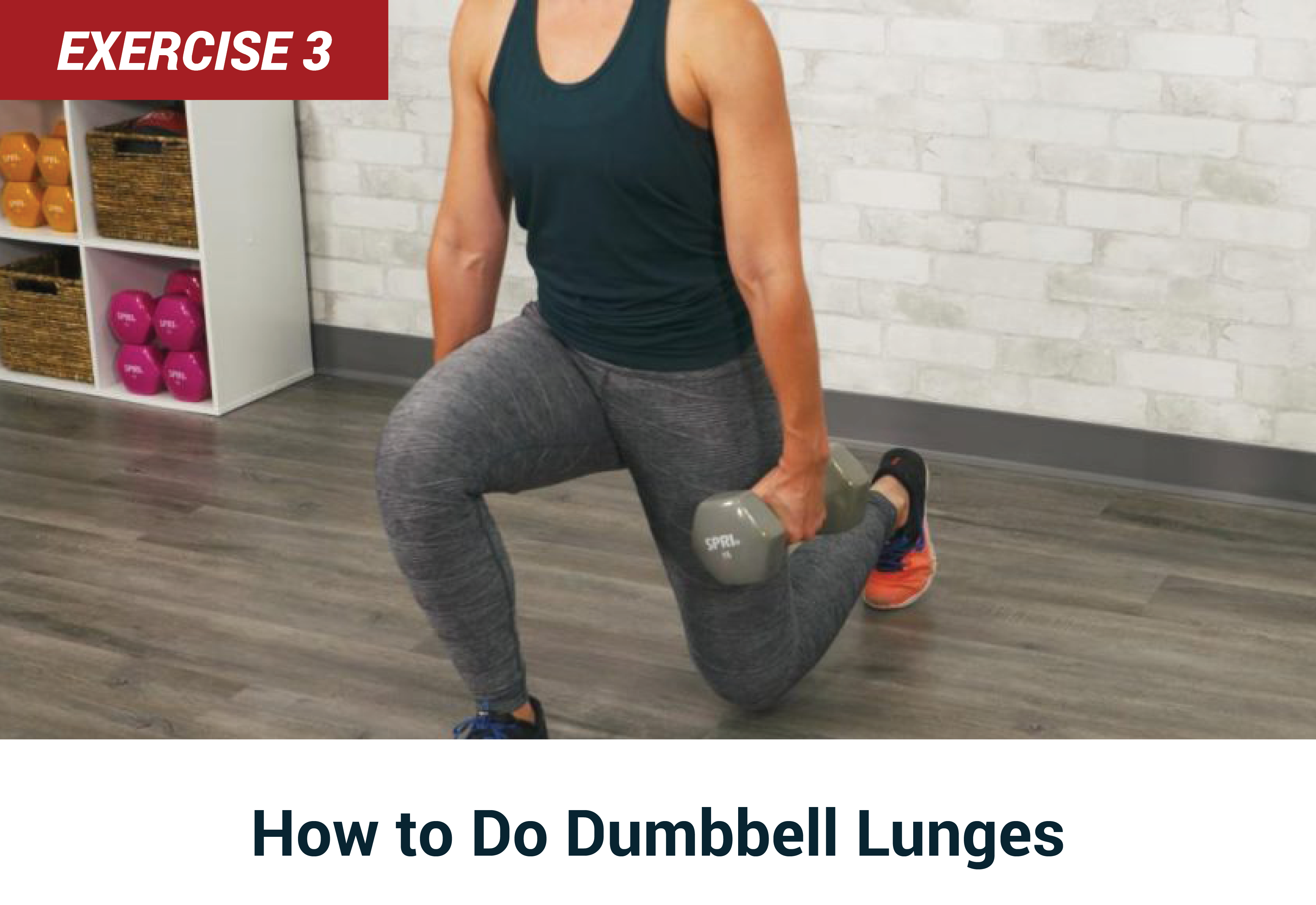 How to do dumbell lunges