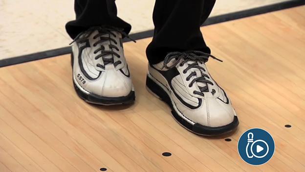 bowling shoes on bowling lane