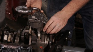 Classic Car Motor Assembly: Oil Pump and Oil Pan