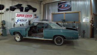 Assessing a Cleaned Car and Racking the Gutted Parts