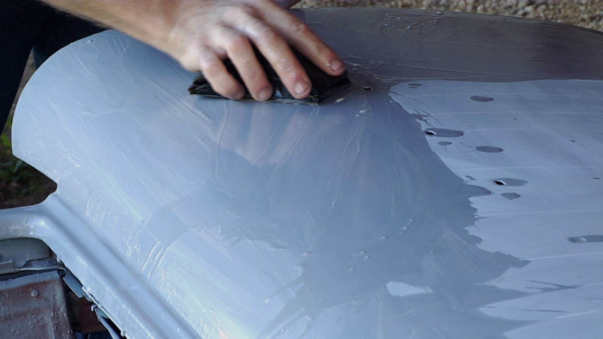 classic car body work  sanding