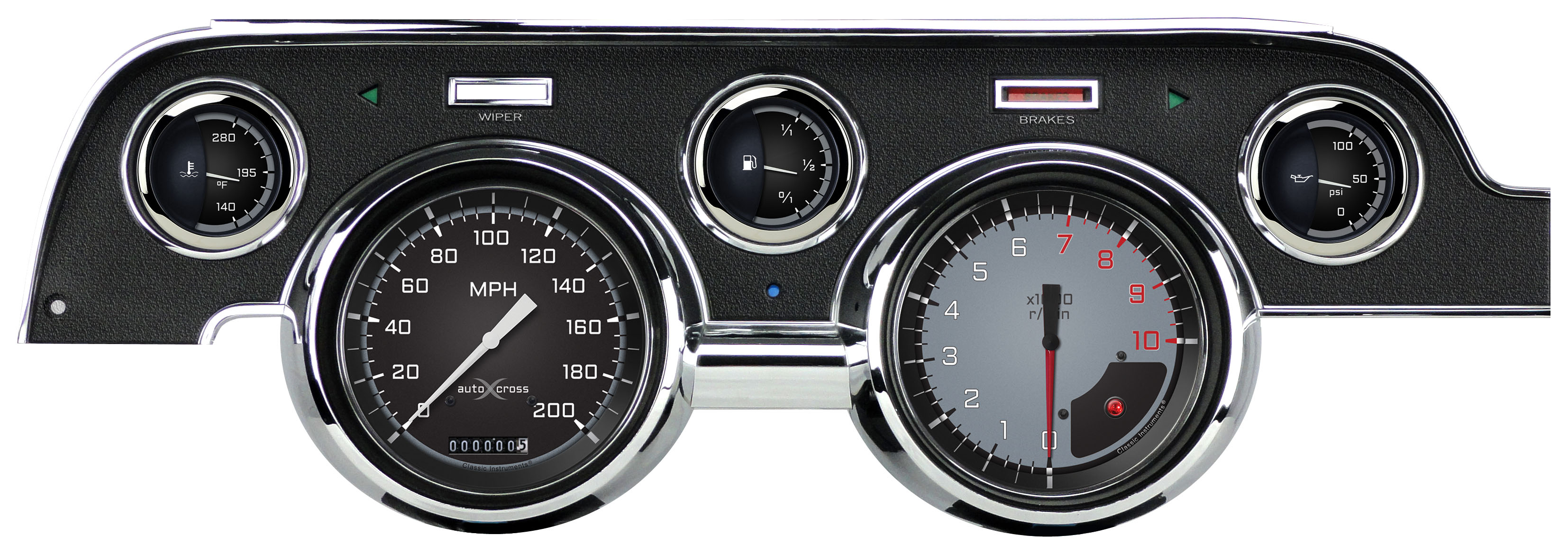 AutoCross Instrument Panels for 1967-68 Ford Mustang