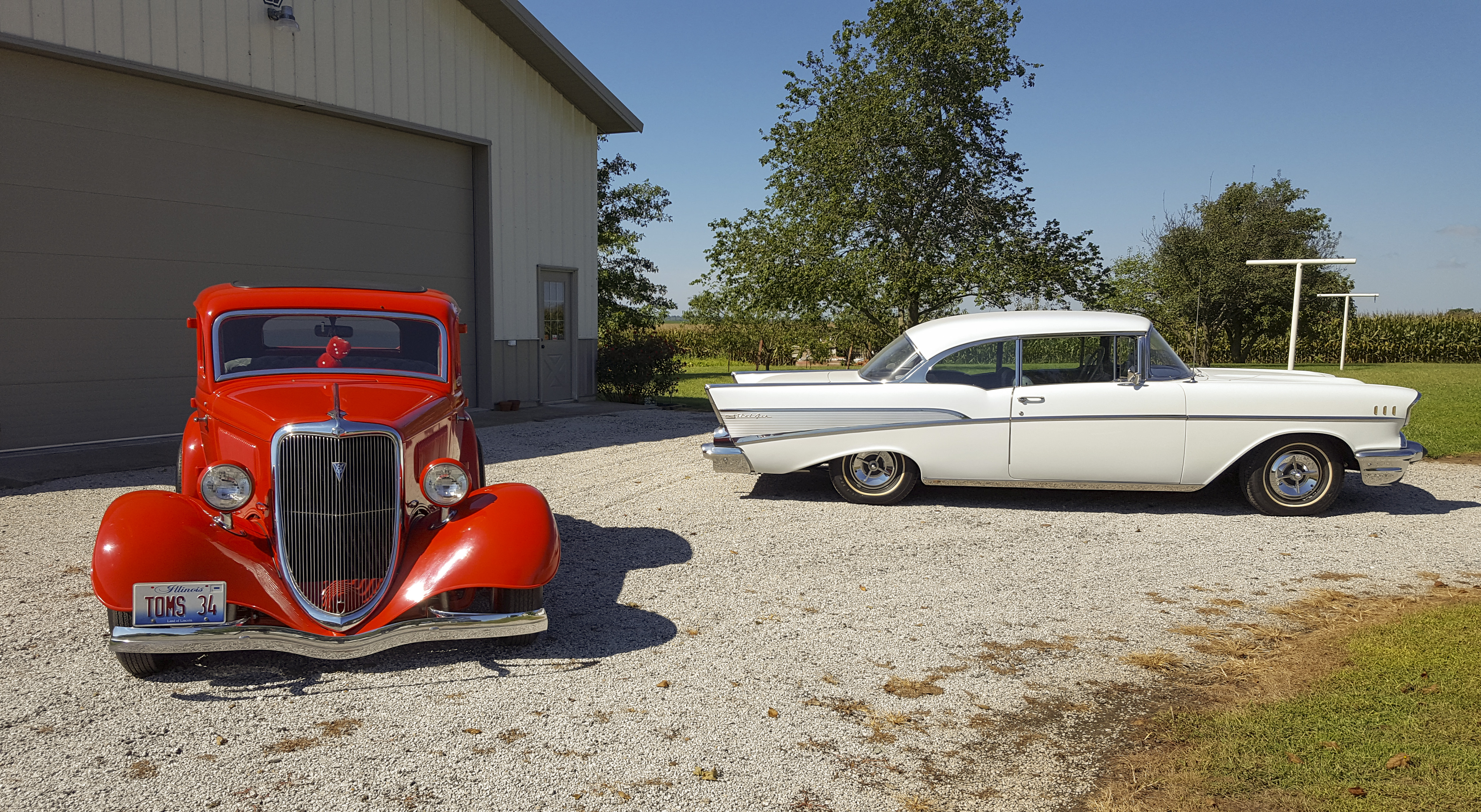 1934 Ford Coupe 1957 Chevy Bel Air Classic Car Restoration Club 2 Door Hardtop Here Is A Picture Of Our Beloved Cars Which Includes 5 Window With Rumble Seat And Chevrolet