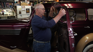 Installing Drivers Side Door Window On A 35 Studebaker 008780f_S3441u_c