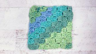 Crocheted Corner-to-Corner Dishcloth