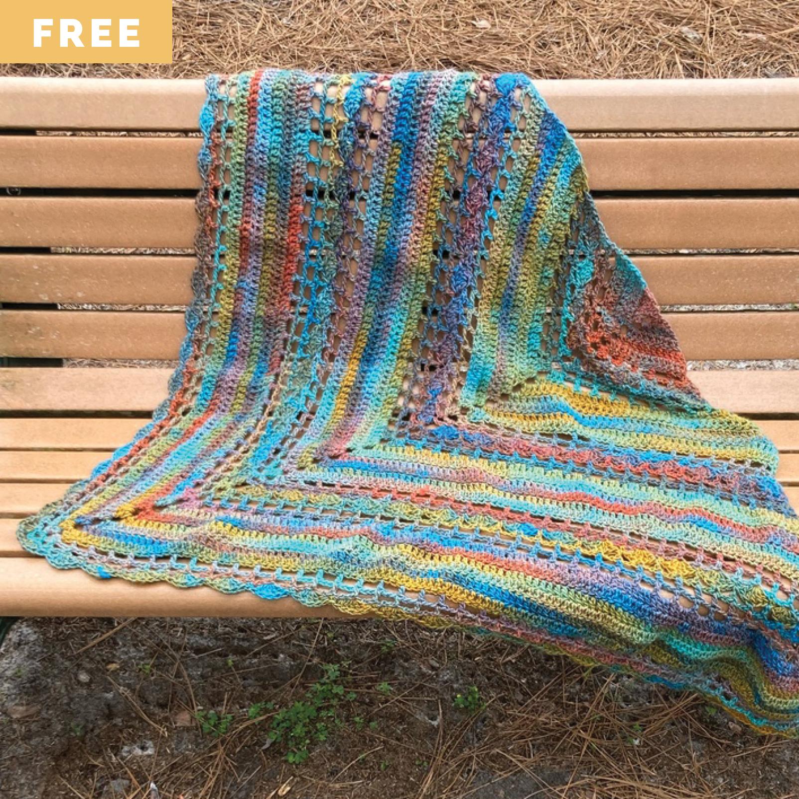 Free Crochet Pattern - Easy Crochet Triangle Shawl