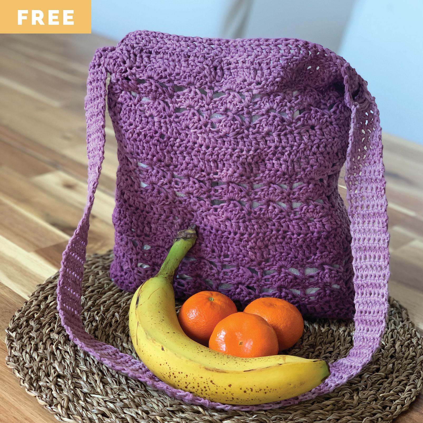 Free Crochet Pattern - MArket Bag