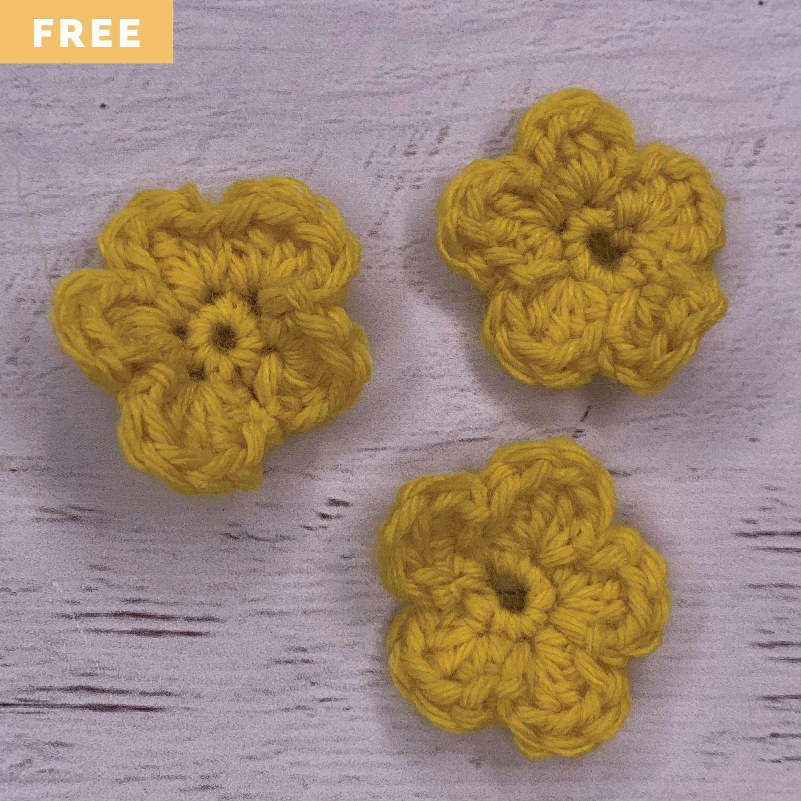 Free Crochet Pattern - Simple Crochet Flowers