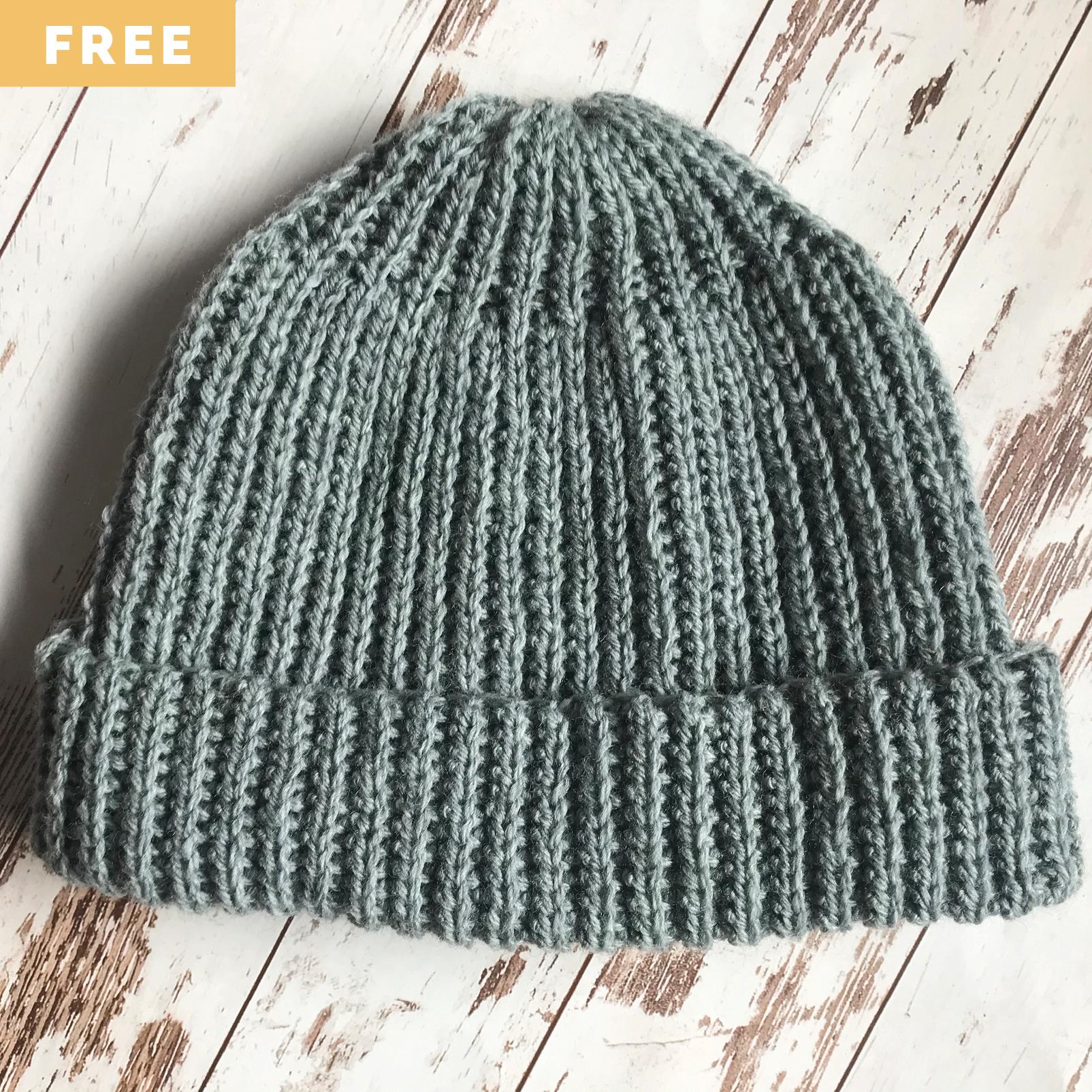 Free Crochet Pattern - Ribbed Watch Cap