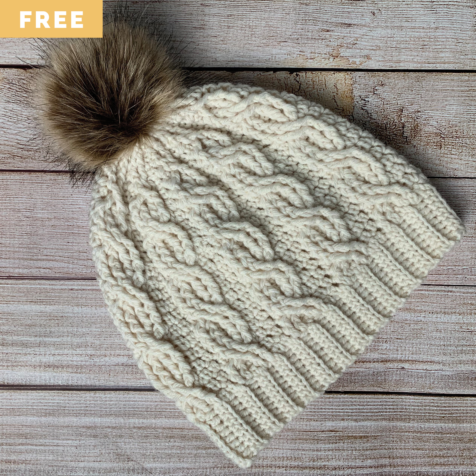 Free Crochet Pattern - Wintertide Cable Hat