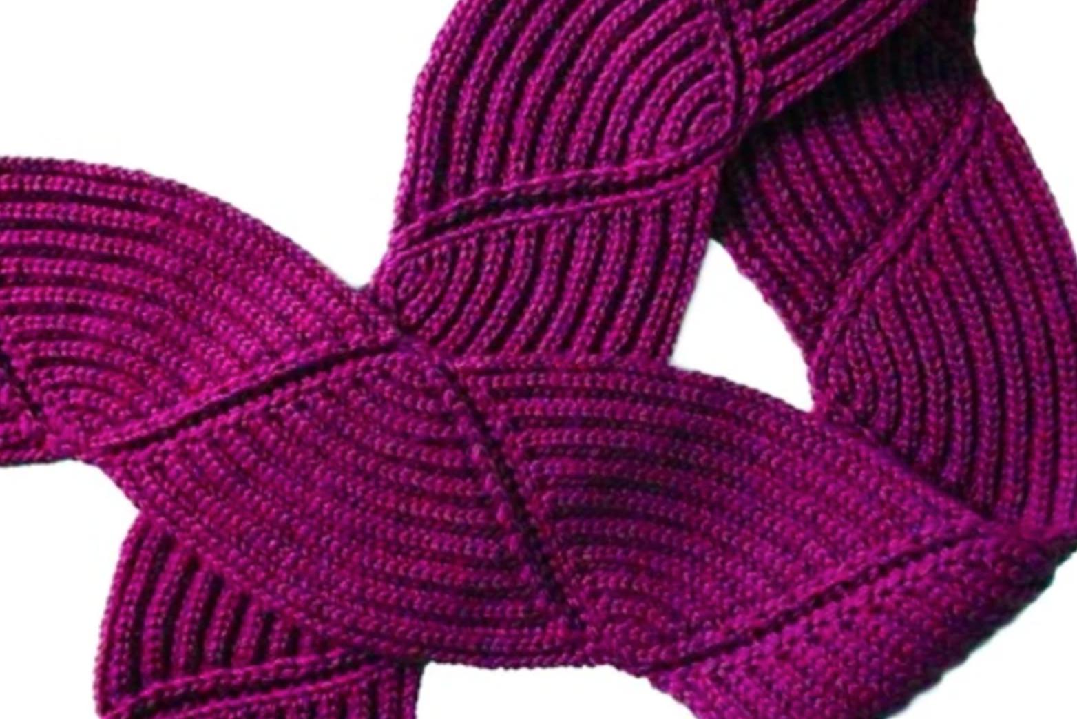 magenta brioche scarf