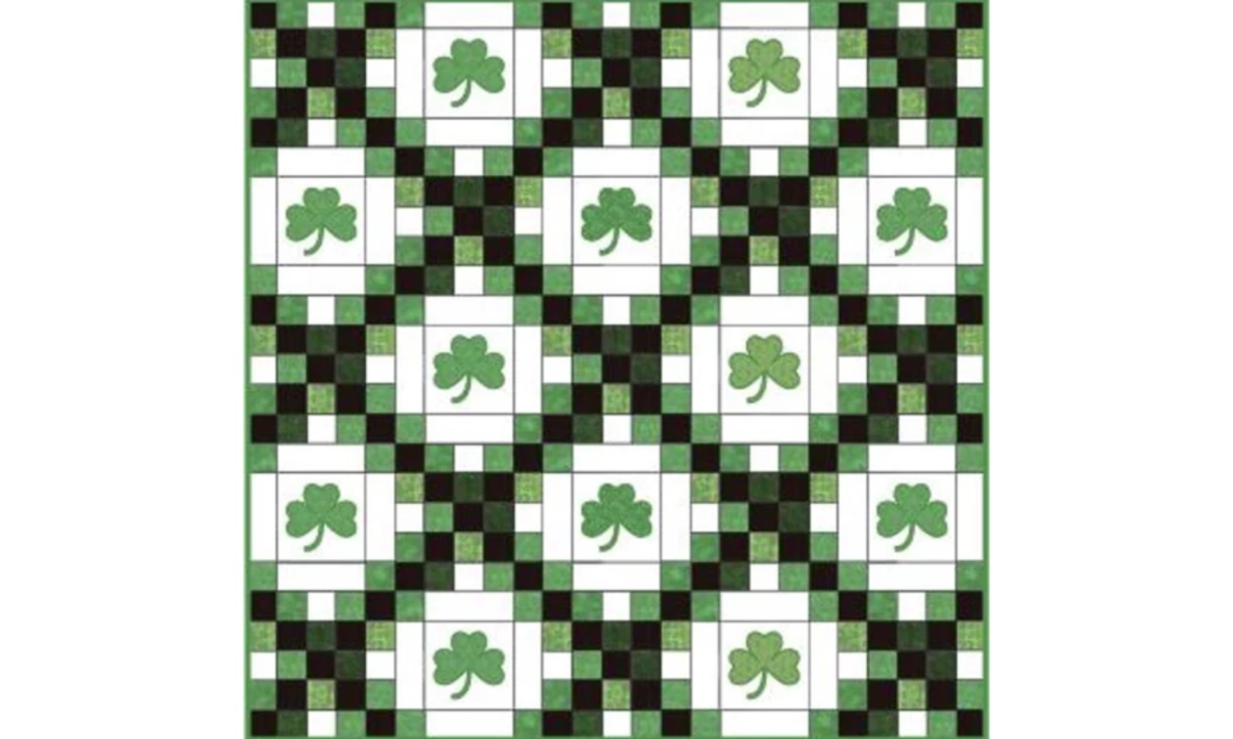 luck of the irish chain quilt