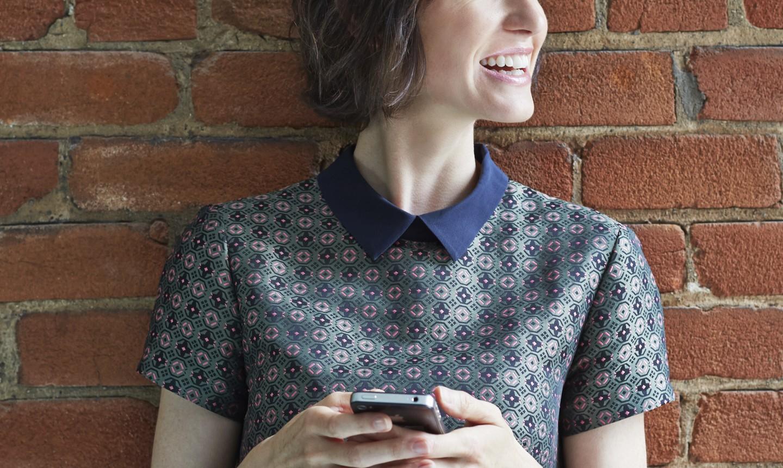 woman wearing collared shirt