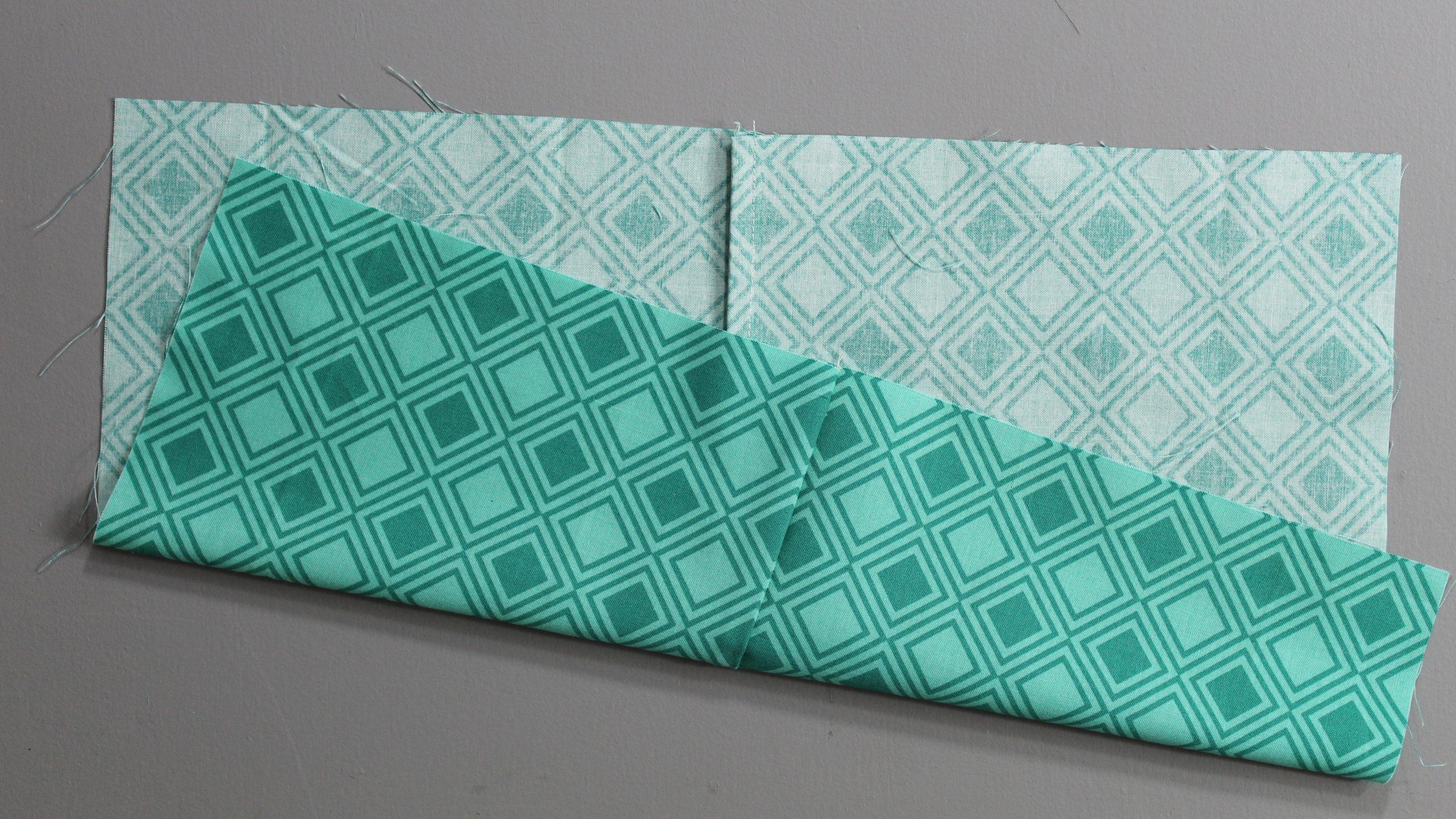 Fabric folded in half