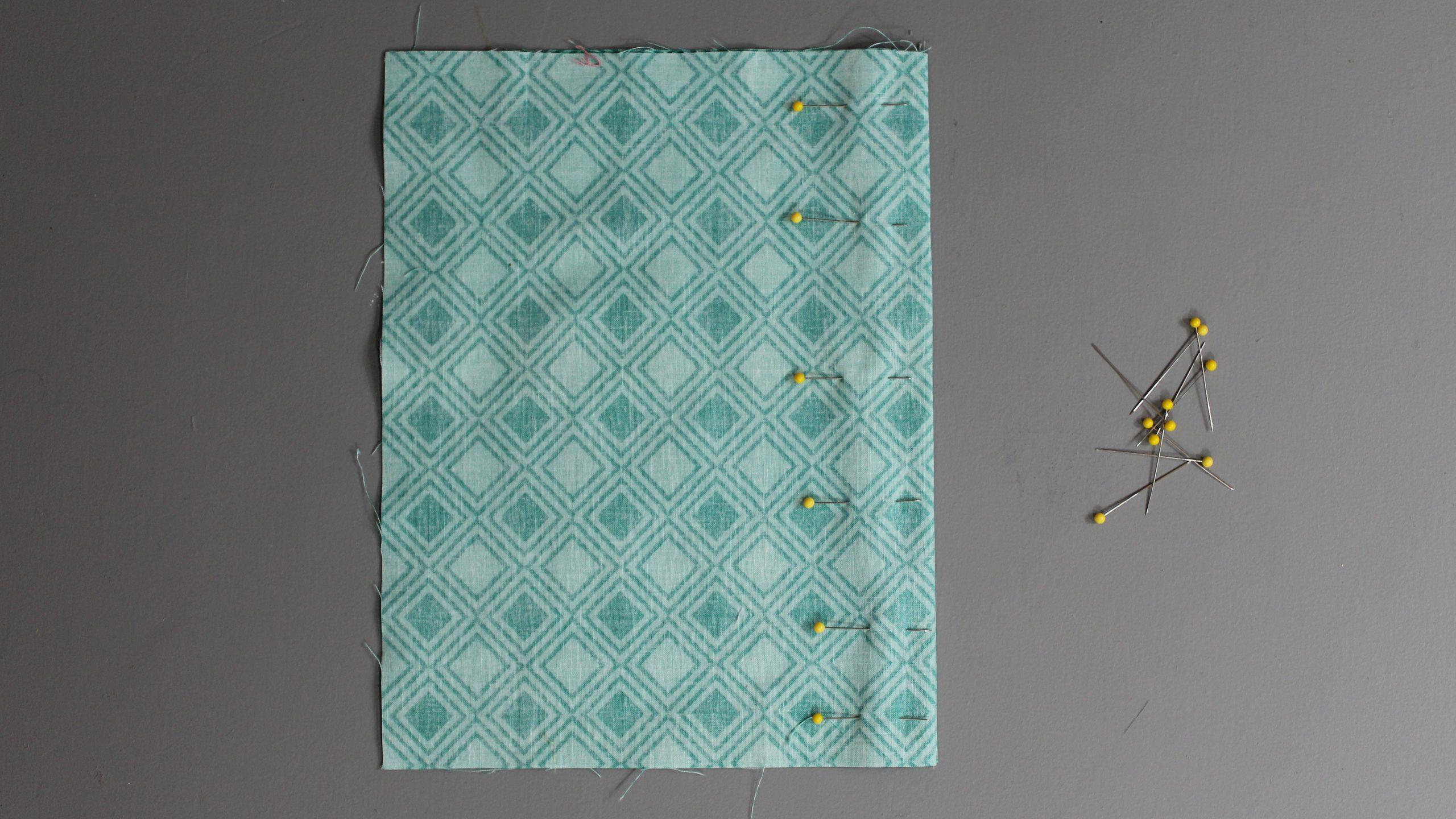 Pinning the fabric