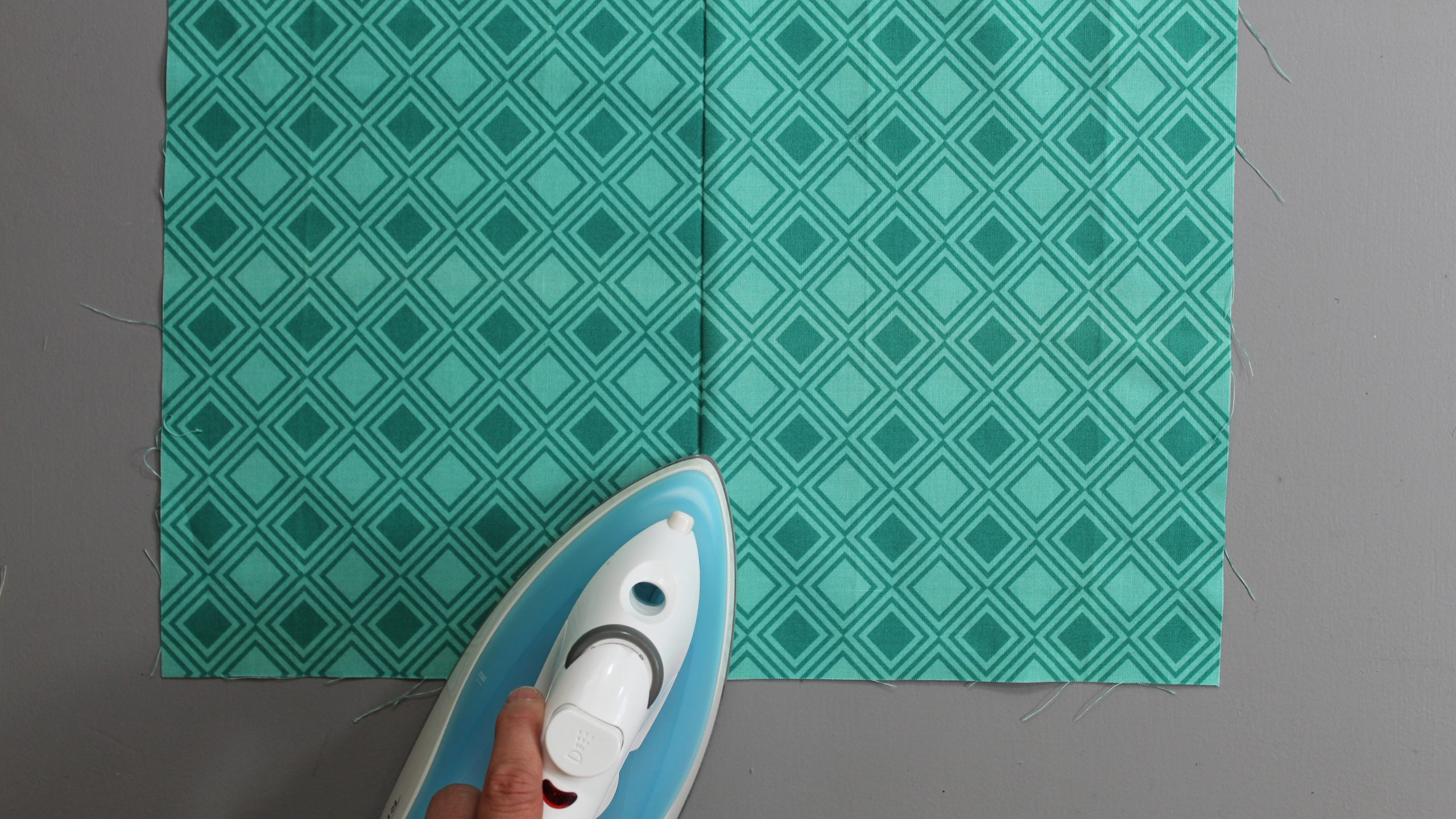 Ironing the other side of the fabric