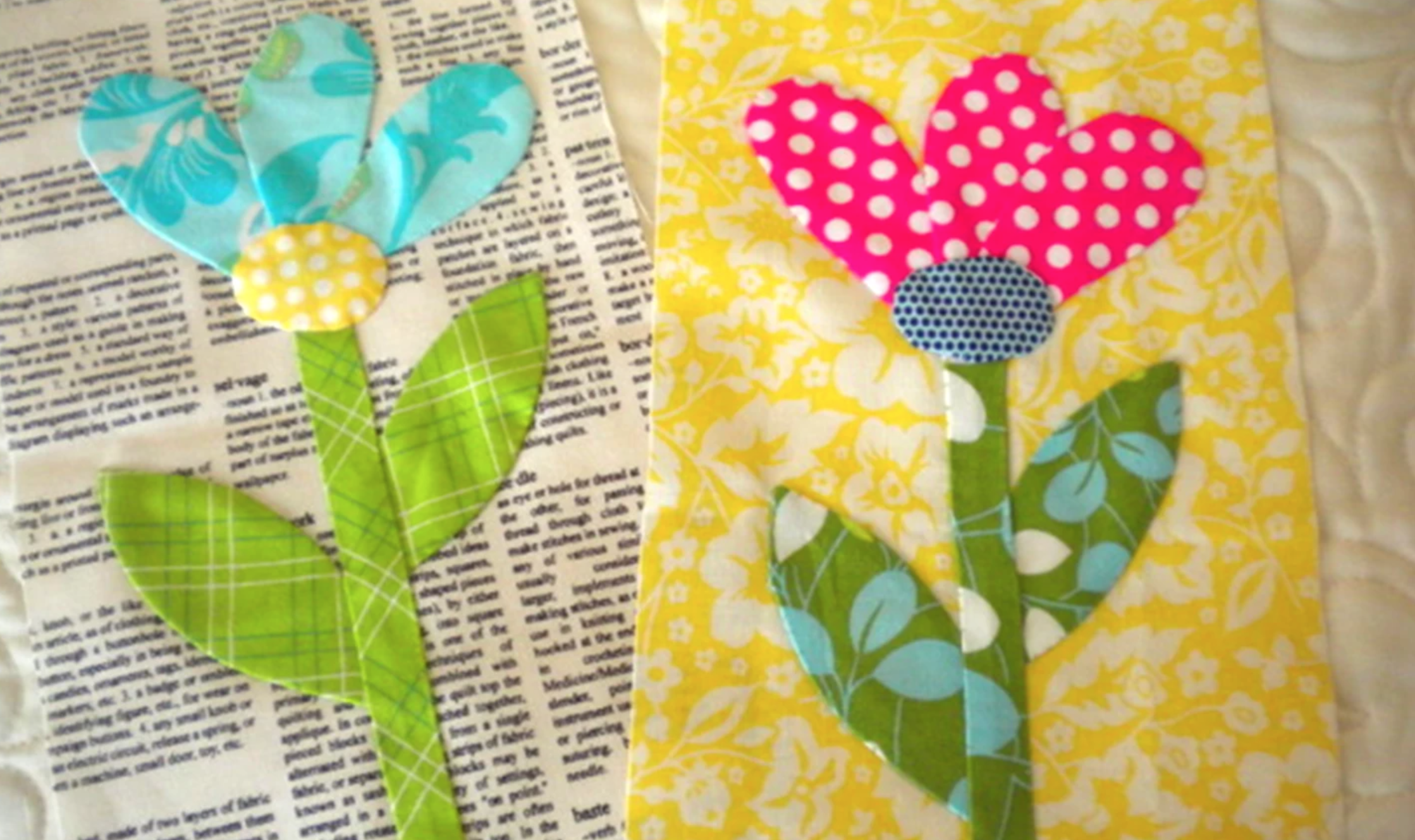 hand applique flowers