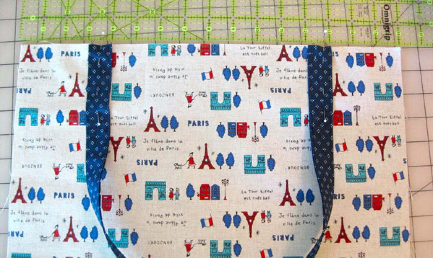 pinning straps to a tote