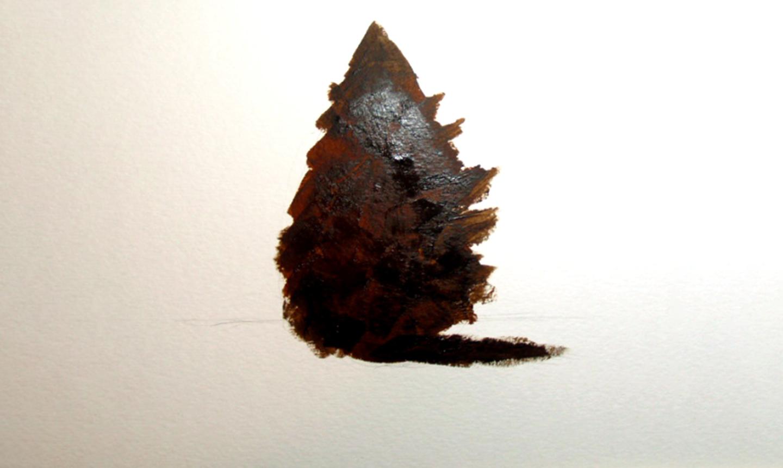 pine tree underpainting