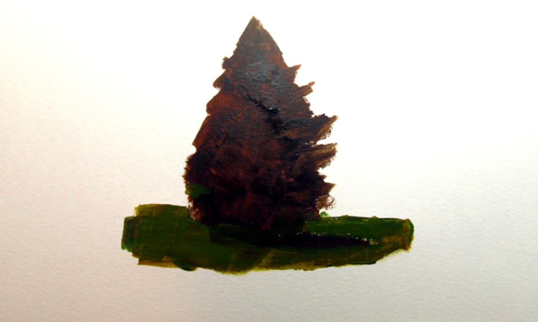 underpainting pine tree shadow