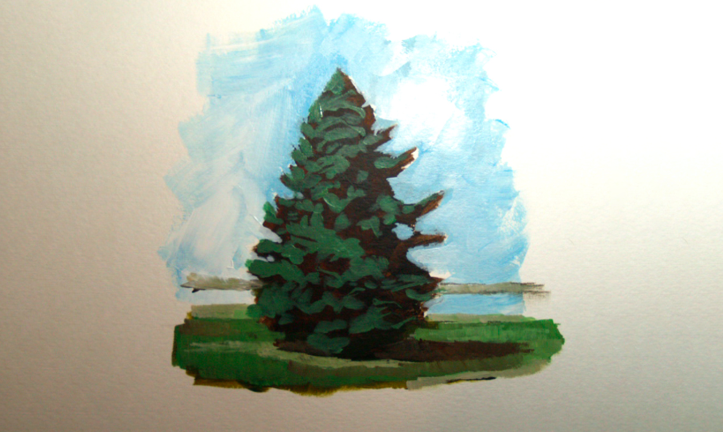 painting pine highlights
