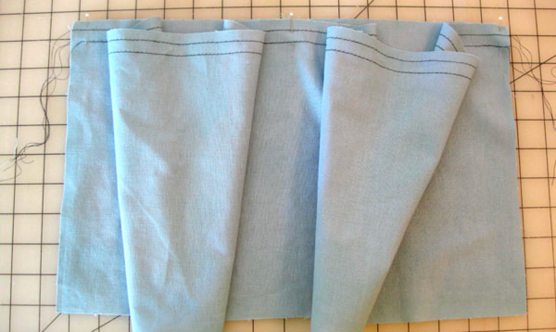 preparing to gather fabric