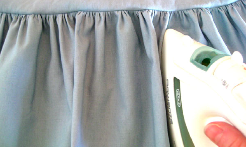 pressing gathered fabric