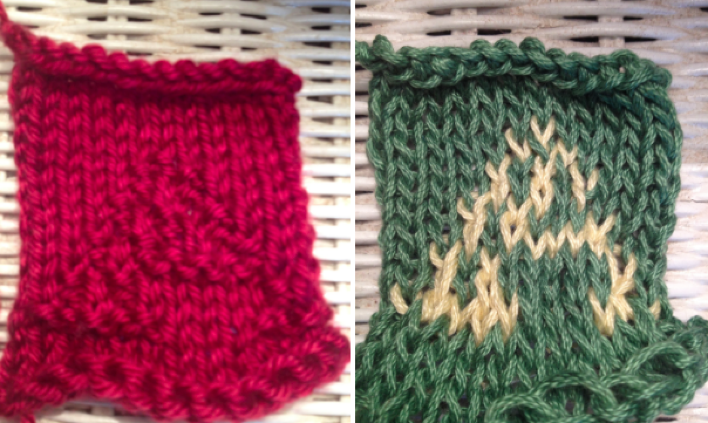 knit letter As